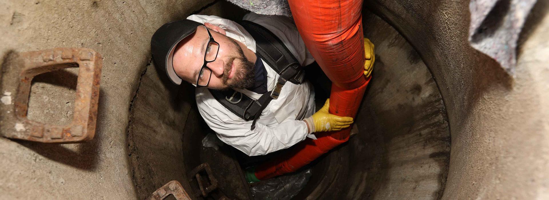 Rohrreinigung gegen verstopftes Abwasser